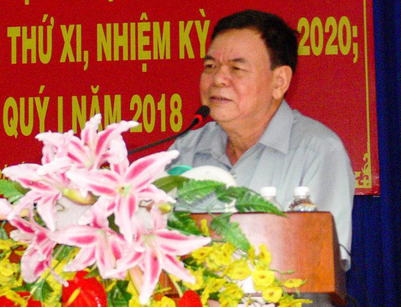 Bí thư Tỉnh ủy Võ Thành Hạo phát biểu chỉ đạo tại hội nghị. Ảnh: Hữu Hiệp