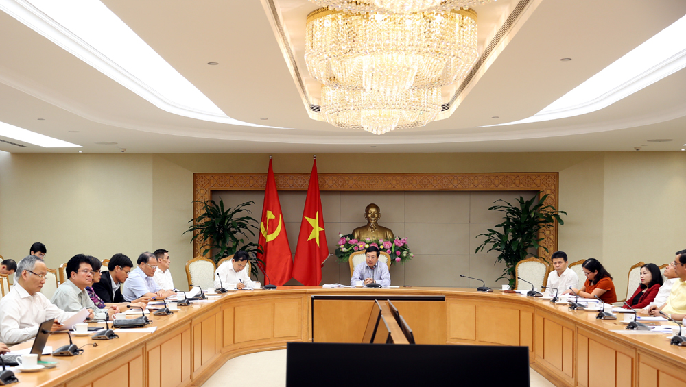 Phó thủ tướng Phạm Bình Minh chủ trì cuộc họp. Ảnh: VGP/Hải Minh