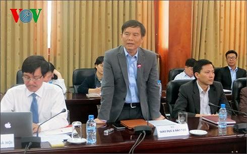 Ông Trần Văn Nghĩa - Phó Cục trưởng Cục Quản lý chất lượng (Bộ GD-ĐT).