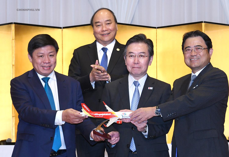 Thủ tướng chứng kiến mở thêm 3 đường bay thẳng kết nối Việt Nam - Nhật Bản.
