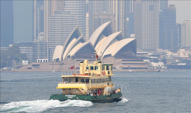 Khói mù bao phủ tại Sydney, Australia. Ảnh: AFP/ TTXVN