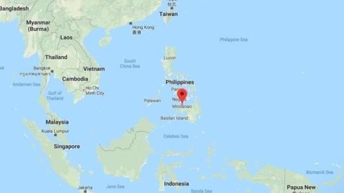 Khu vực xảy ra trận động đất được đánh dấu trên bản đồ. Ảnh: Stuff