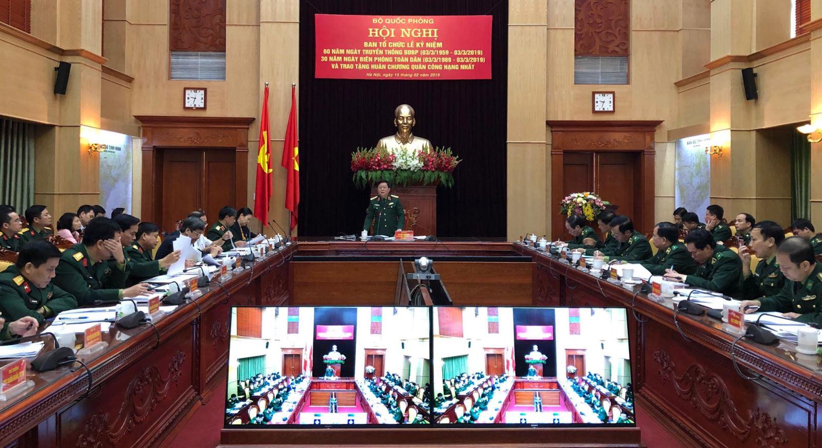 Thượng tướng Nguyễn Trọng Nghĩa, Ủy viên Trung ương Đảng, Phó chủ nhiệm Tổng Cục Chính trị chủ trì Hội nghị. Ảnh: Viết Tôn