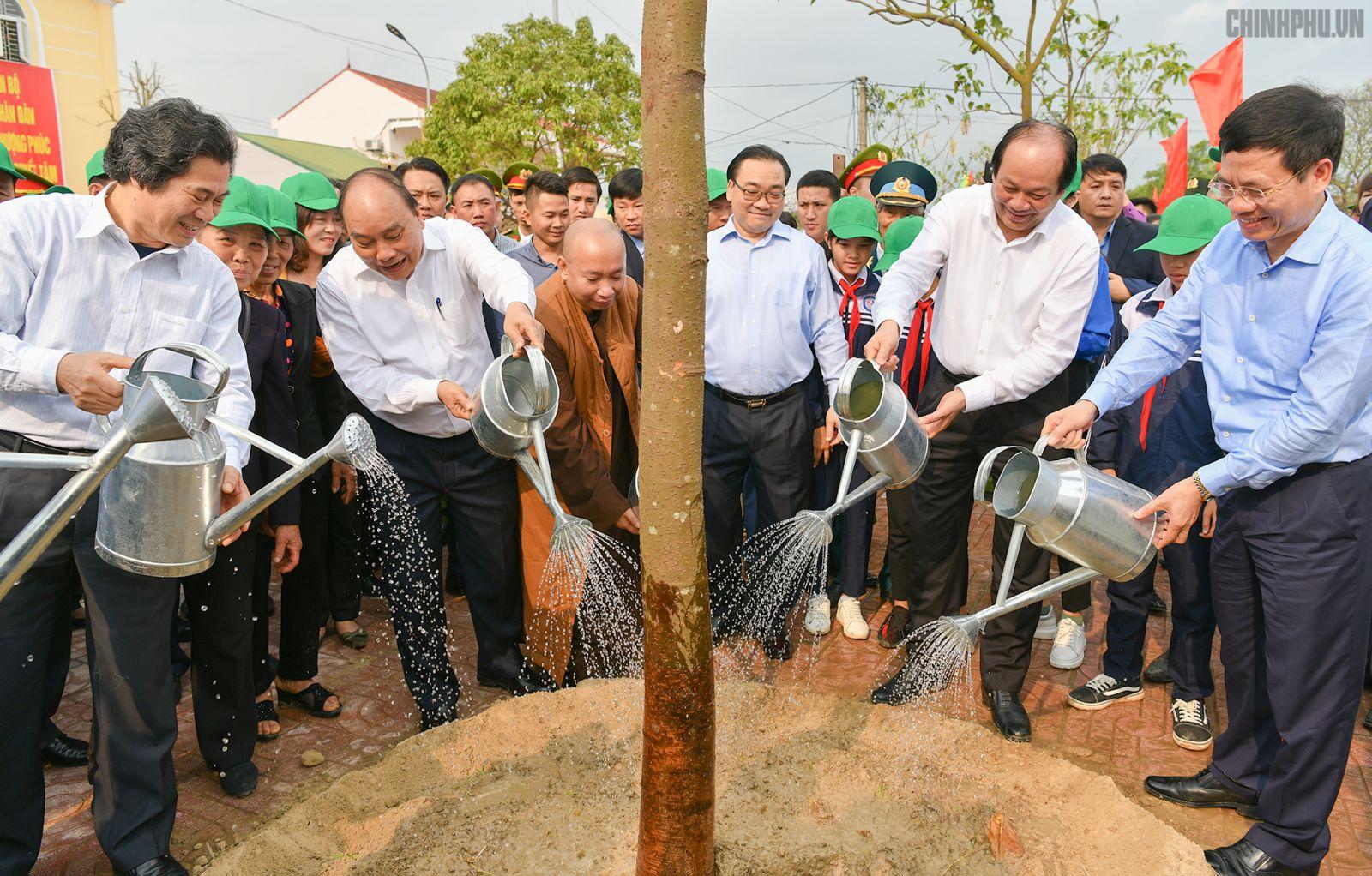 Thủ tướng Nguyễn Xuân Phúc tại Lễ phát động. Ảnh: VGP/Quang Hiếu