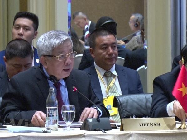 Thượng tướng Nguyễn Chí Vịnh tham dự hội nghị. Ảnh: Phóng viên TTXVN tại Bangkok