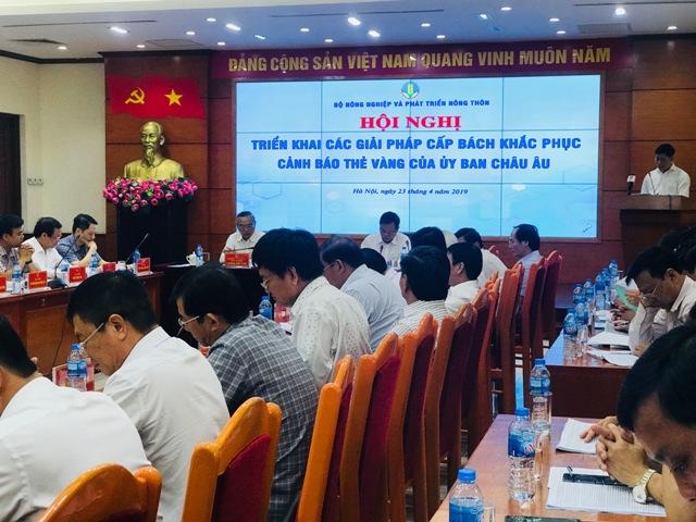 Hội nghị diễn ra tại trụ sở Bộ NN&PTNT Việt Nam, Hà Nội. Ảnh: HNV
