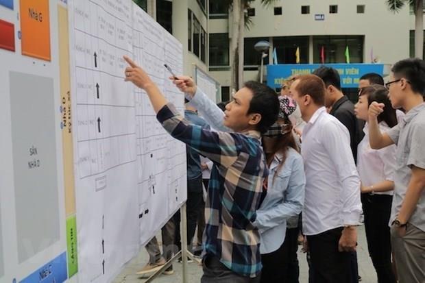 Lao động tham gia kỳ thi tiếng Hàn Quốc để sang nước này làm việc. Ảnh minh họa: Vietnam+