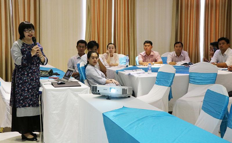 Giảng viên lớp tập huấn đến từ Viện Quy hoạch đô thị và nông thôn quốc gia.