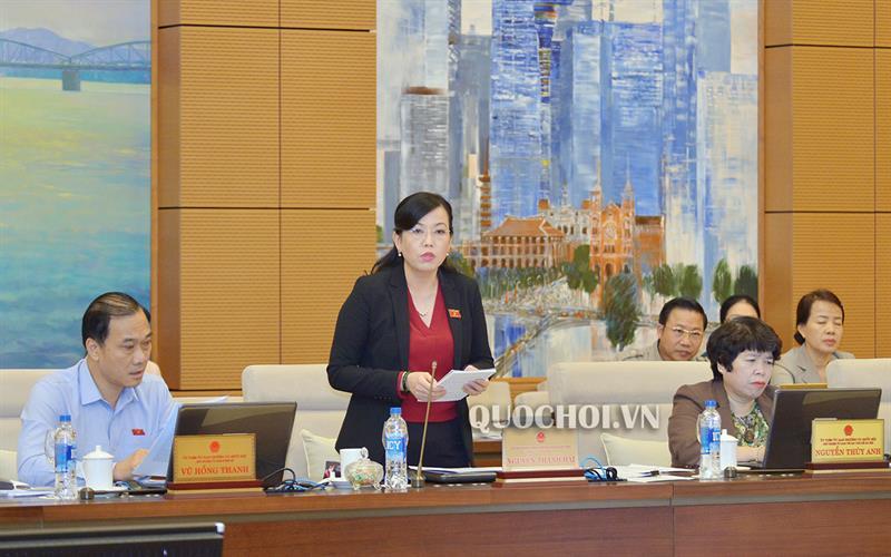 Trưởng Ban Dân nguyện Nguyễn Thanh Hải Trình bày dự thảo báo cáo kết quả giám sát việc giải quyết, trả lời kiến nghị của cử tri gửi đến kỳ họp thứ 6.