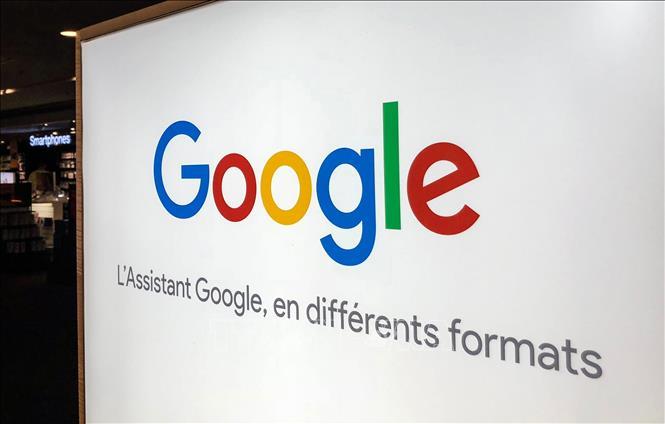 Biểu tượng Google tại một cửa hàng ở Lille, Pháp. Ảnh: AFP/TTXVN