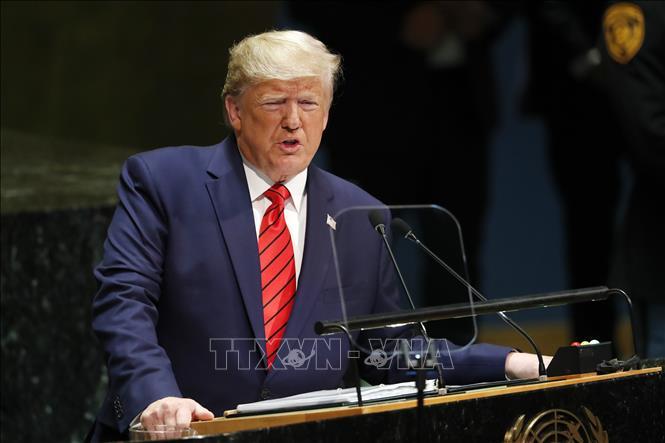 Tổng thống Mỹ Donald Trump. Ảnh: THX/TTXVN