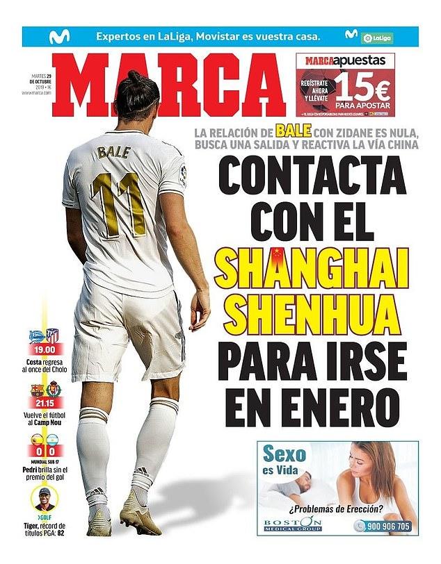 Gareth Bale có thể chia tay Real Madrid trong tháng 1-2020