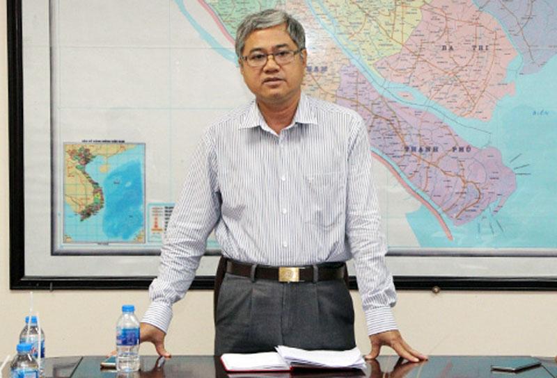 Phó Chủ tịch UBND tỉnh Nguyễn Văn Đức phát biểu kết luận cuộc họp. Ảnh: Trương Hùng