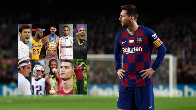 Messi vượt qua nhiều đối thủ để trở thành VĐV của thập kỷ