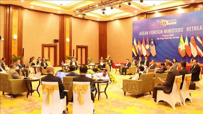 Quang cảnh Hội nghị hẹp Bộ trưởng Ngoại giao ASEAN. Ảnh: Tiên Minh/TTXVN