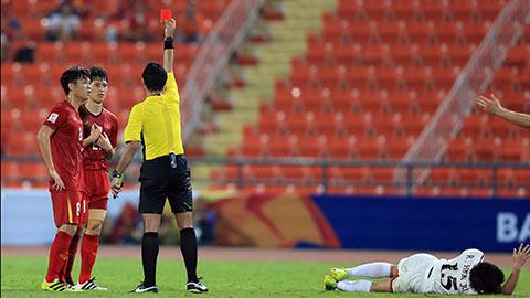 Đình Trọng bị treo giò ở trận gặp Malaysia sắp tới sau khi nhận thẻ đỏ trong trận đấu với U23 Triều Tiên ở U23 châu Á 2020