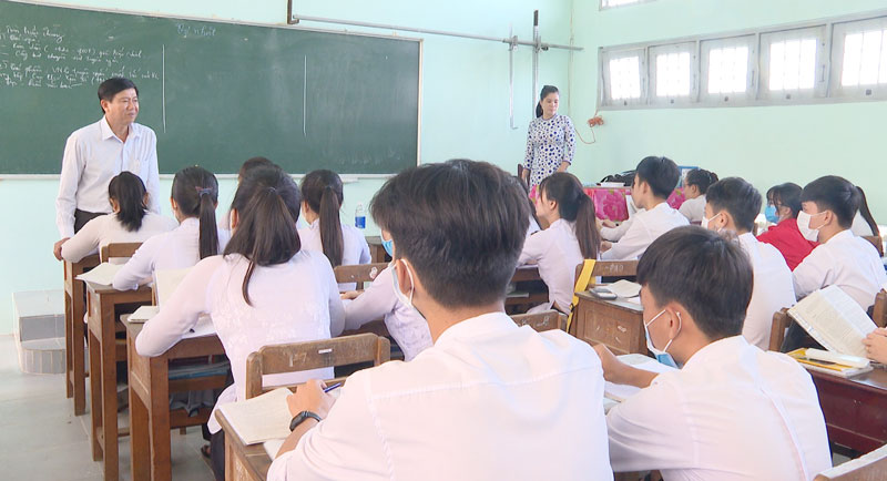 Các trường thực hiện tốt công tác phòng chống dịch bệnh.