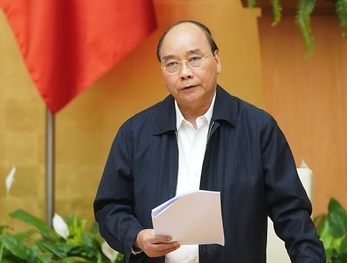 Thủ tướng phát biểu kết luận cuộc họp. Ảnh: VGP/Quang Hiếu