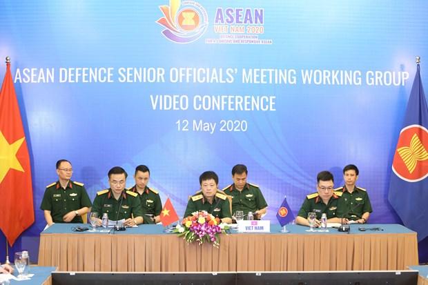 Trung tướng Vũ Chiến Thắng, Cục trưởng Cục Đối ngoại, Bộ Quốc phòng, Trưởng đoàn Việt Nam chủ trì hội nghị. Ảnh: Dương Giang/TTXVN