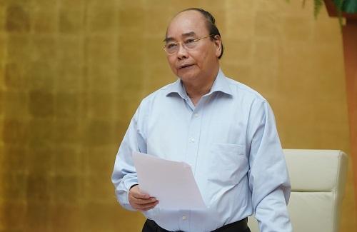Thủ tướng Nguyễn Xuân Phúc chủ trì cuộc họp Thường trực Chính phủ nghe Ban Chỉ đạo quốc gia báo cáo về công tác phòng, chống dịch COVID-19 - Ảnh: VGP/Quang Hiếu