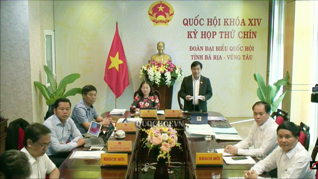 Đại biểu Quốc hội Dương Minh Tuấn – Đoàn ĐBQH tỉnh Bà Rịa- Vũng Tàu phát biểu