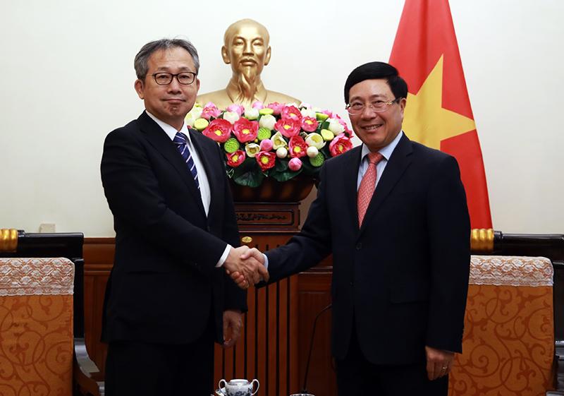 Phó Thủ tướng Phạm Bình Minh đã tiếp Đại sứ Nhật Bản Yamada Takio. Ảnh: VGP/Hải Minh
