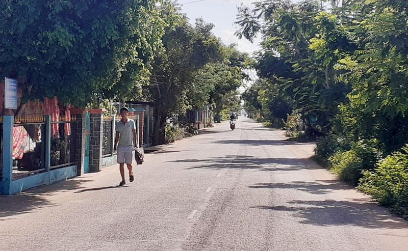 Đường giao thông nông thôn xã Bình Thới (Bình Đại).