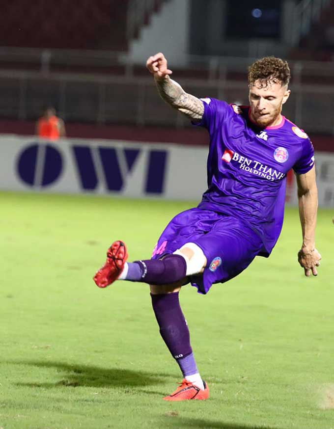 Geovane ấn định chiến thắng 2-0 cho Sài Gòn