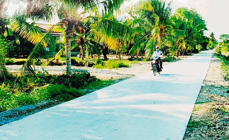 Xã Mỹ Thạnh xây dựng đường xã ĐX 01 theo Đề án số 3333 của UBND tỉnh.