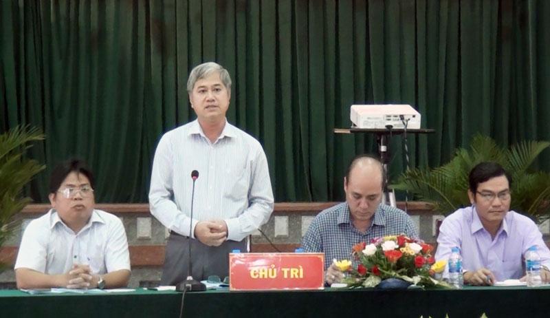 Phó chủ tịch UBND tỉnh Nguyễn Văn Đức kết luận buổi kiểm tra.