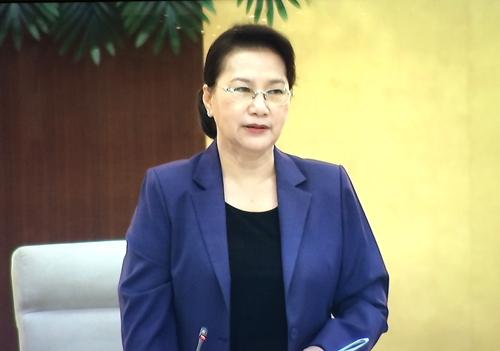 Chủ tịch Quốc hội Nguyễn Thị Kim Ngân phát biểu khai mạc Phiên họp - Ảnh: VGP/Nguyễn Hoàng