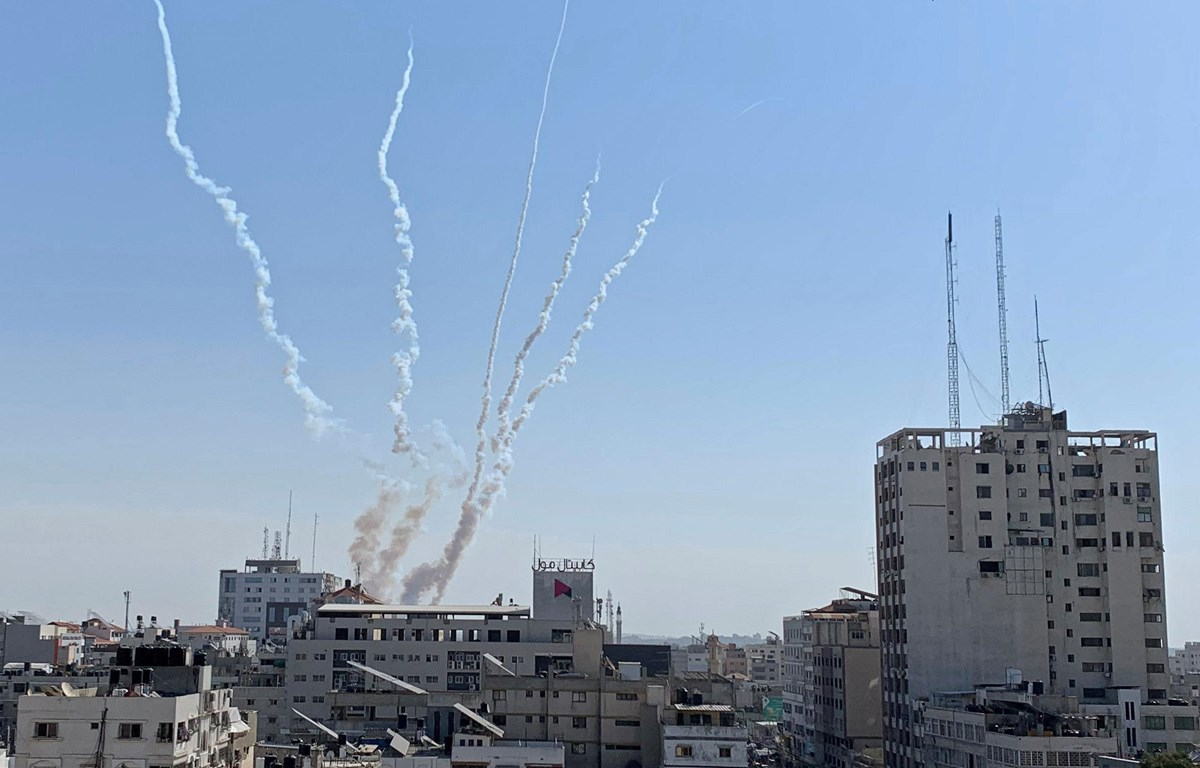 Rocket được phóng từ Dải Gaza ngày 14-11-2019. (Nguồn: Reuters)