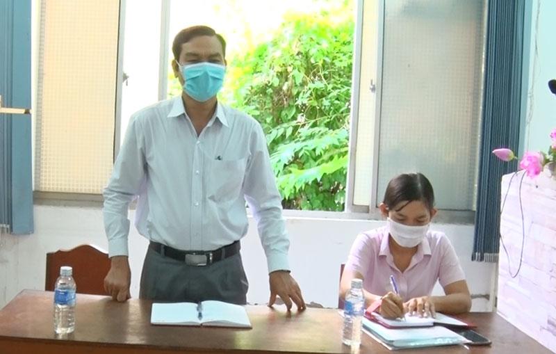 Phó chủ tịch UBND TP. Bến Tre Nguyễn Văn Thương phát biểu chỉ đạo buổi làm việc.