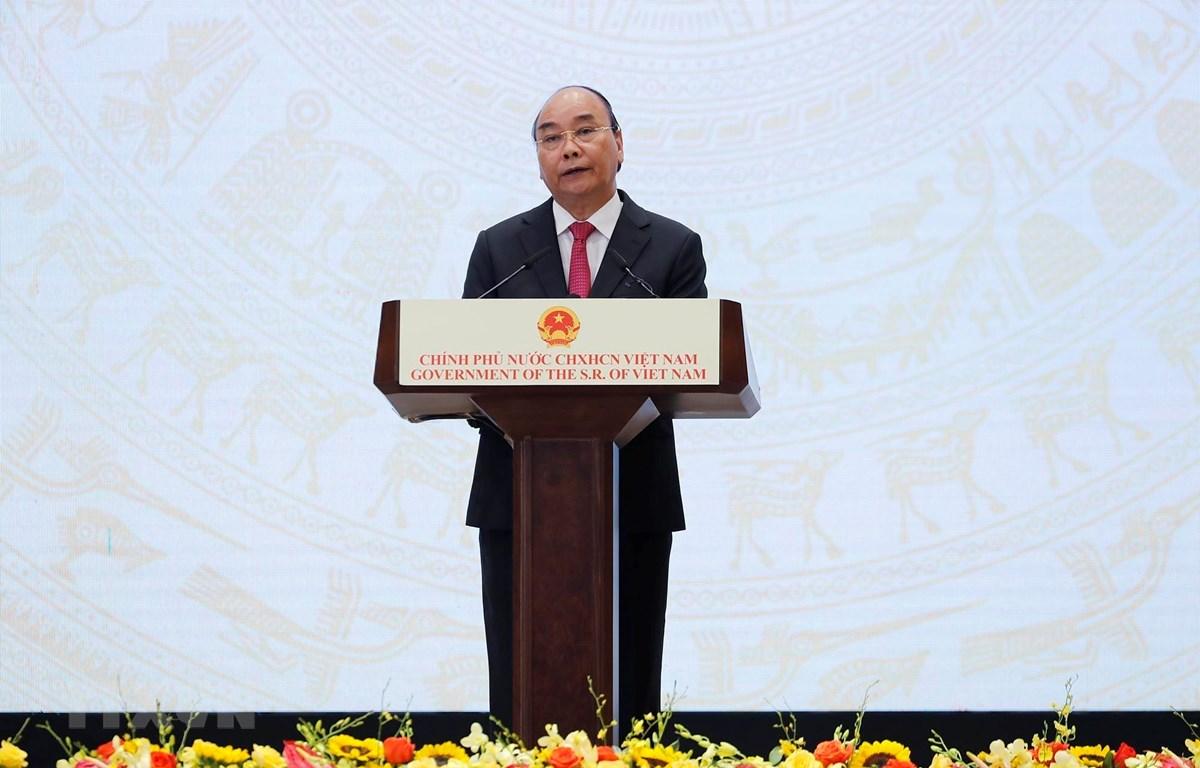 Thủ tướng Nguyễn Xuân Phúc phát biểu chào mừng nhân kỷ niệm 75 năm Quốc khánh nước CHXHCN Việt Nam (2-9-1945 - 2-9-2020). Ảnh: Lâm Khánh/TTXVN