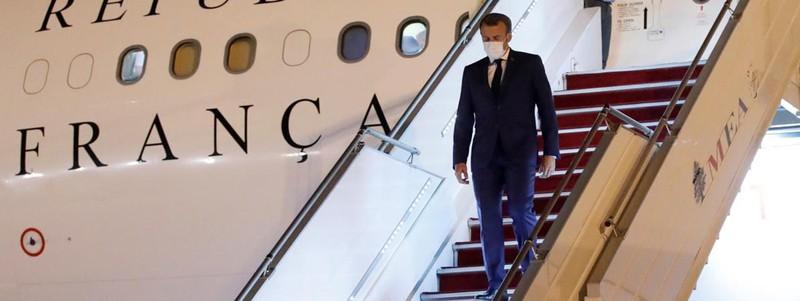 Tổng thống Pháp quay lại Lebanon ngày 31-8-2020. Ảnh: Franceinfo