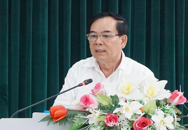 Phó bí thư Thường trực Tỉnh ủy Trần Ngọc Tam phát biểu kết thúc buổi tọa đàm.