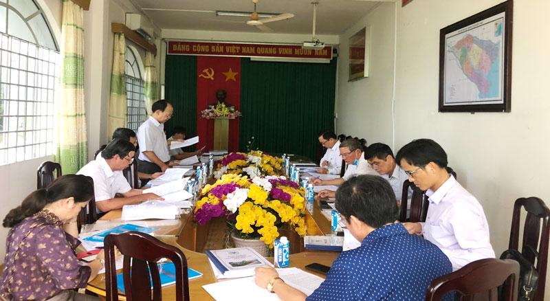 Quang cảnh buổi họp Hội đồng sơ tuyển Giải thưởng chất lượng Quốc gia năm 2020.