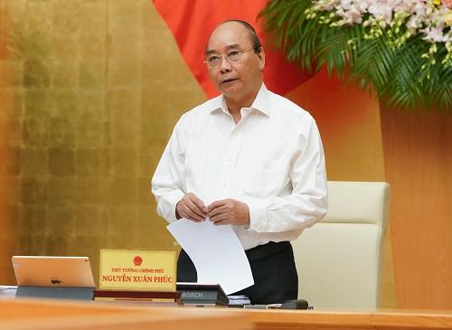 Thủ tướng Nguyễn Xuân Phúc chủ trì phiên họp - Ảnh: VGP/Quang Hiếu