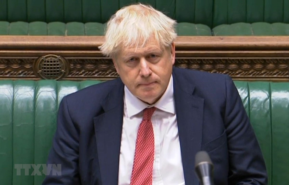 Thủ tướng Anh Boris Johnson tại cuộc họp ở London, Anh, ngày 2-9-2020. Ảnh: AFP/TTXVN