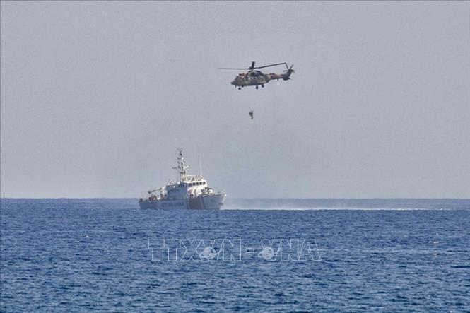 Binh sĩ Thổ Nhĩ Kỳ tham gia cuộc tập trận trên Địa Trung Hải ngày 6-9-2020. Ảnh: AFP/TTXVN