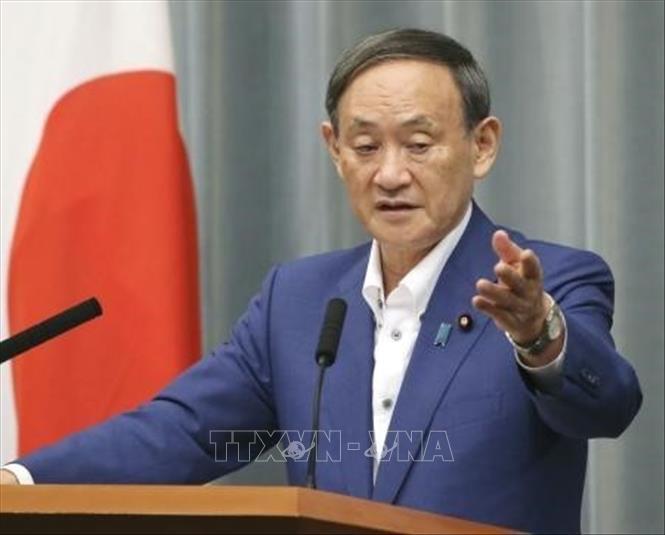 Chánh văn phòng Nội các Nhật Bản Yoshihide Suga tại cuộc họp báo ở Tokyo, Nhật Bản, ngày 11-9-2020. Ảnh: Kyodo/TTXVN