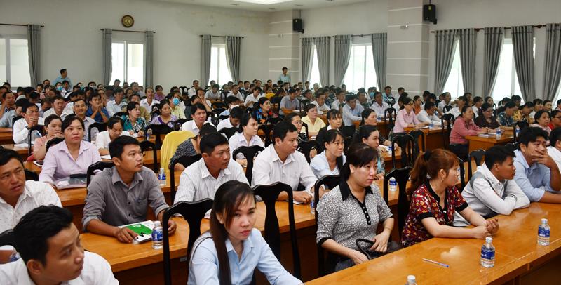 Các đại biểu dự lớp tập huấn.
