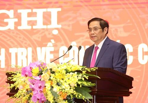 Trưởng Ban Tổ chức Trung ương Phạm Minh Chính phát biểu tại hội nghị - Ảnh: VGP/Đoàn Bắc