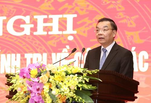Phó Bí thư Thành ủy Hà Nội Chu Ngọc Anh phát biểu nhận nhiệm vụ - Ảnh: VGP/Đoàn Bắc