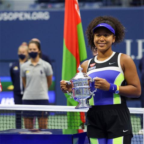 Ngoài hai chức vô địch US Open (2018, 2020), Naomi Osaka cũng lên ngôi ở Australian Open 2019