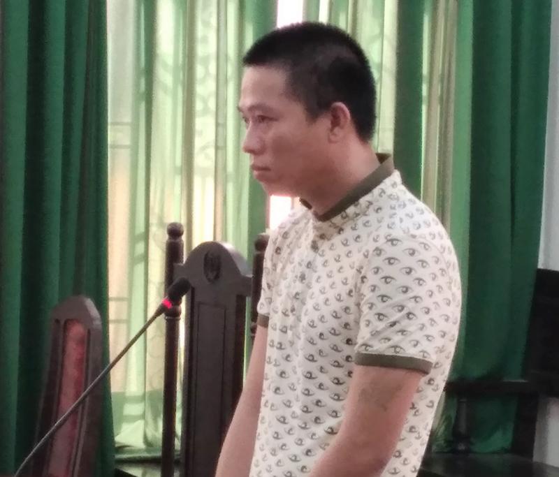 Bị cáo Hồ Phát Đạt tại phiên tòa.