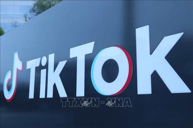 Biểu tượng TikTok tại Los Angeles, bang California, Mỹ ngày 21-8-2020. Ảnh: THX/TTXVN