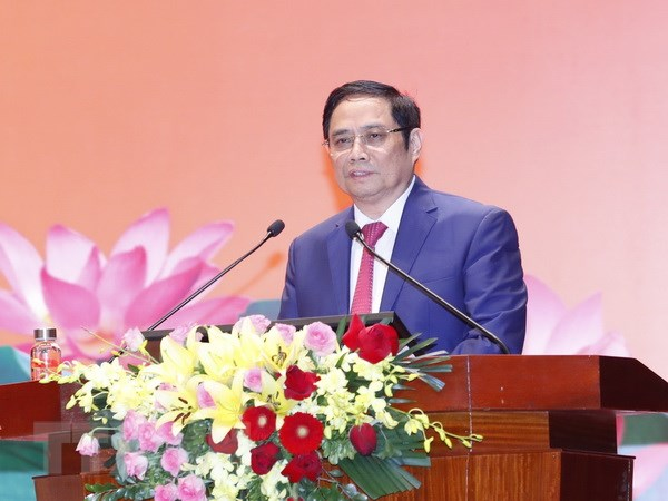 Ông Phạm Minh Chính, Ủy viên Bộ Chính trị, Bí thư Trung ương Đảng, Trưởng Ban Tổ chức Trung ương. (Ảnh: Doãn Tấn/TTXVN)