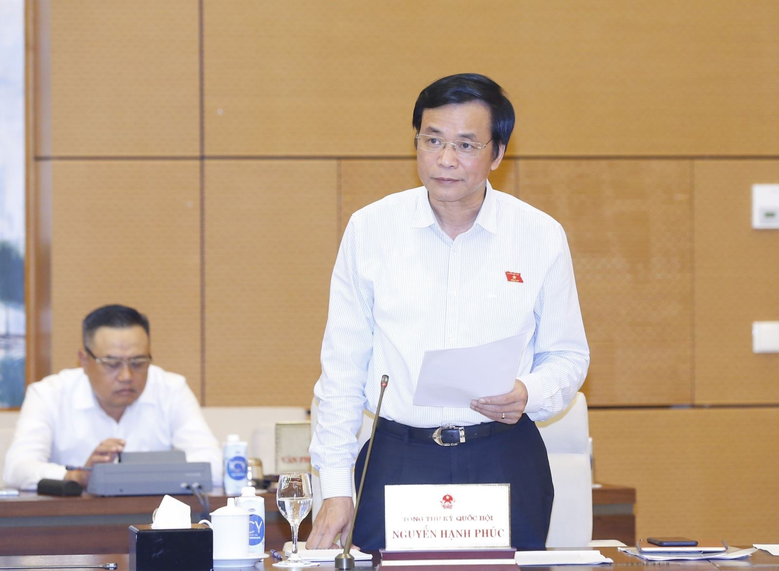 Tổng Thư ký Quốc hội, Chủ nhiệm Văn phòng Quốc hội Nguyễn Hạnh Phúc. Ảnh: Doãn Tấn/TTXVN