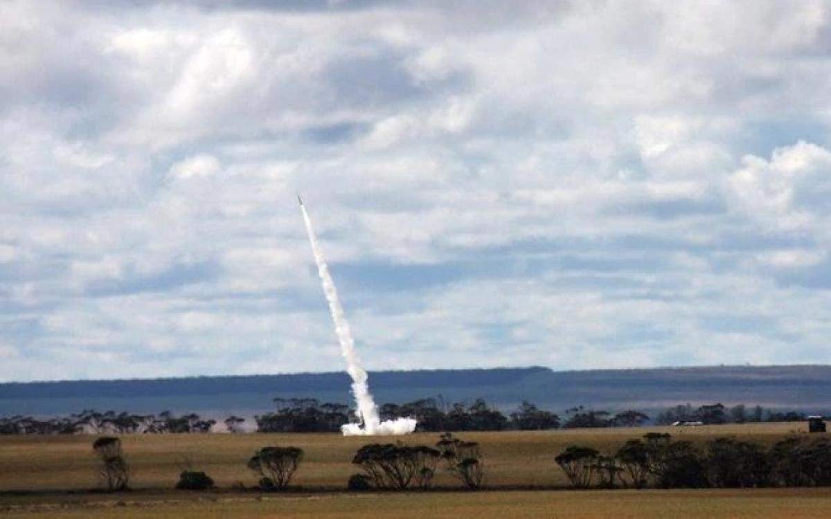 Australia lần đầu tiên phóng thành công tên lửa thương mại lên không gian. Ảnh: Bộ Quốc phòng Australia.